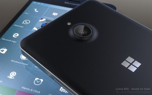 Lumia 850 phone designer render 3