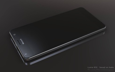Lumia 850 phone designer render 4
