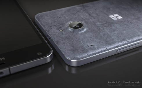 Microsoft Lumia 850 concrete back cover