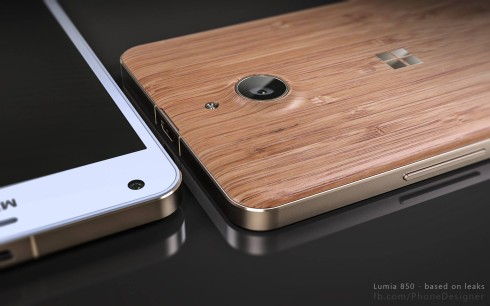 Microsoft Lumia 850 wood back cover