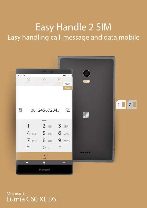 Microsoft Lumia C60 XL dual SIM concept 4