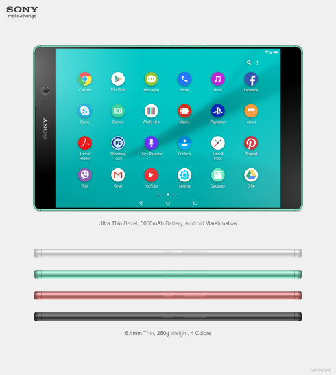 Sony Xperia C5 Tablet concept 3