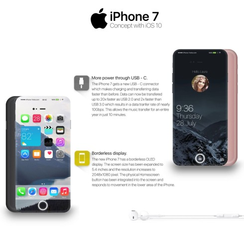 iPhone 7 concept iOS 10 1
