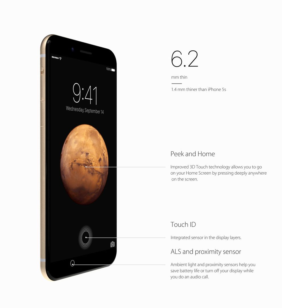 iPhone 7 Rendered With Great Looking AirPods Headphones