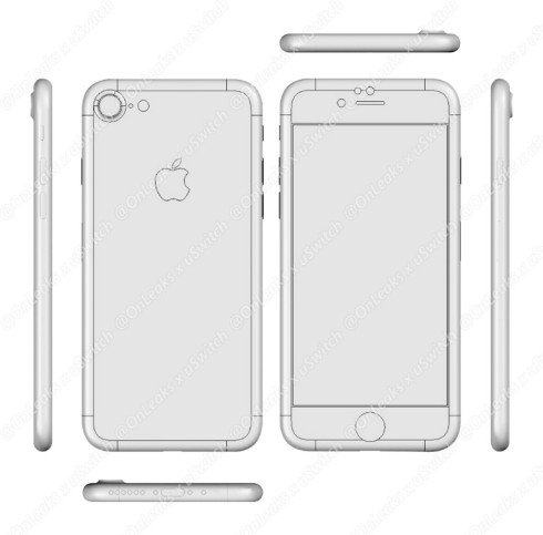 iPhone 7 blueprint