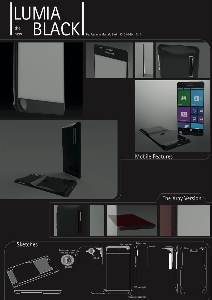 Nokia Lumia Black concept phone 2016  (2)