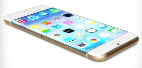 curved screen edge iPhone