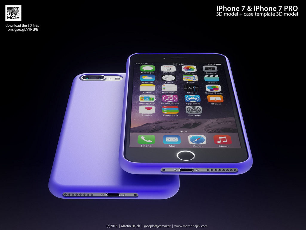 iPhone 7 Pro Martin Hajek 3D render  (4)