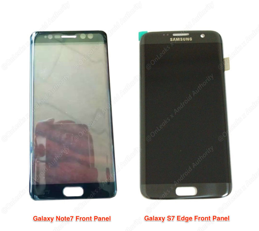 Galaxy note 7 front panel leak (1)