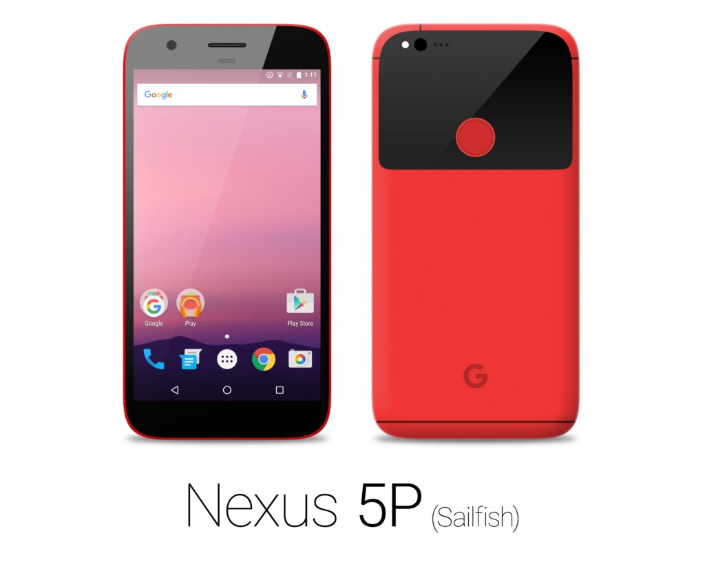 HTC Nexus 5P Sailfish red