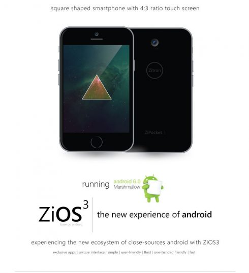 Zitron ZiPocket 3 concept phone 2