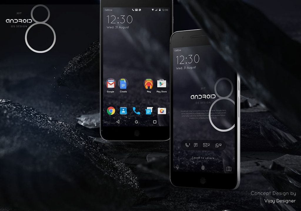 android o android 8 concept  (1)