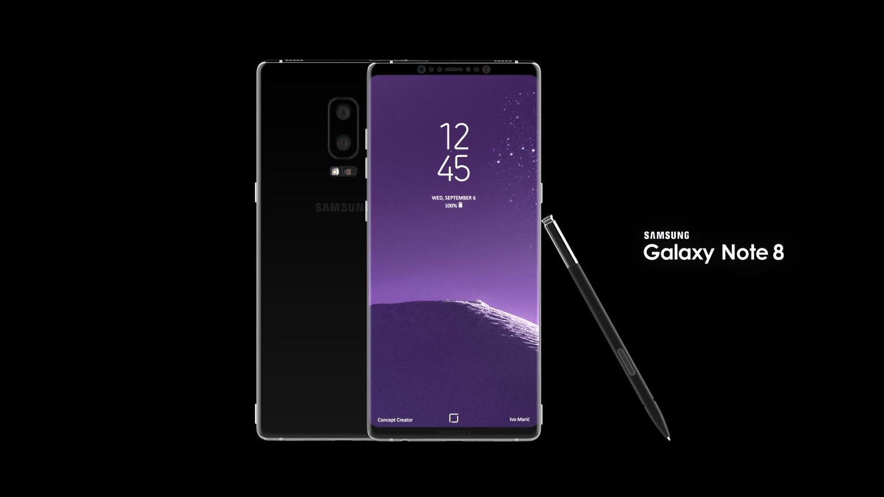 Samsung Galaxy Note 8 Rendered and Modelled by Ivo Maric ...