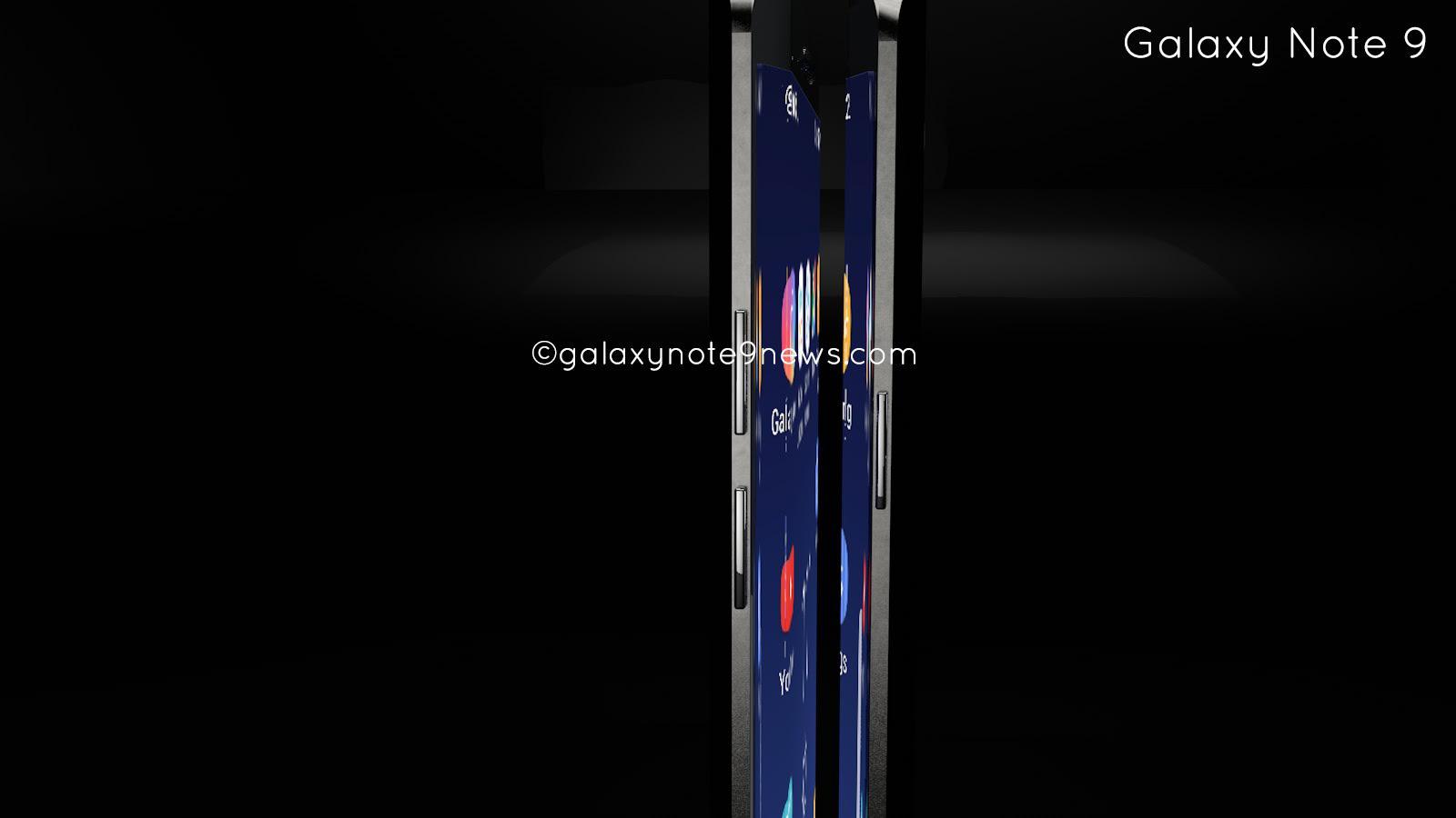 samsung galaxy note 9 gets first render concept phones. Black Bedroom Furniture Sets. Home Design Ideas