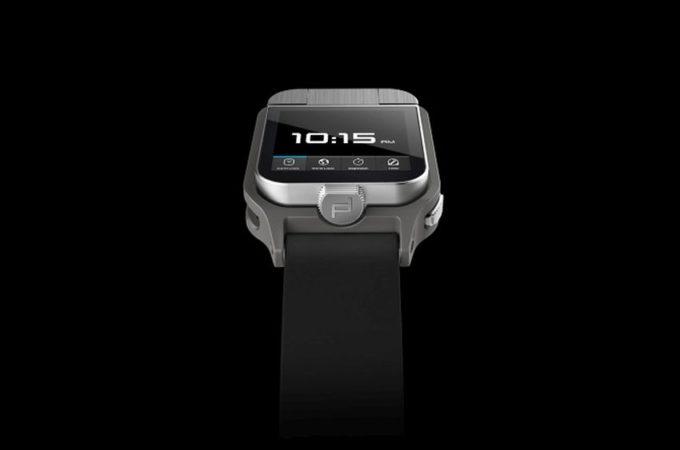 porsche design dual screen smartwatch concept flips the. Black Bedroom Furniture Sets. Home Design Ideas