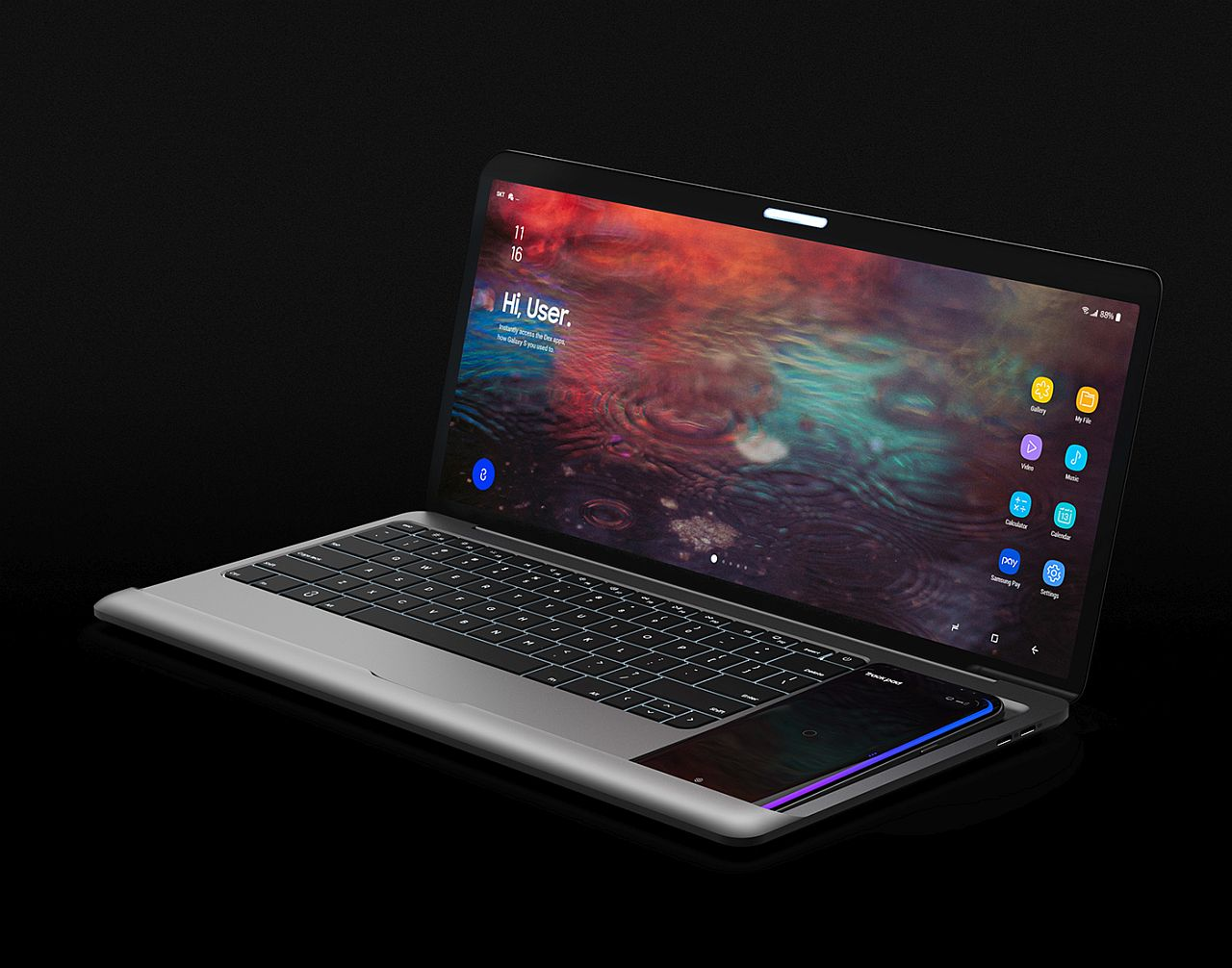 how to make samsung phone appear on laptop