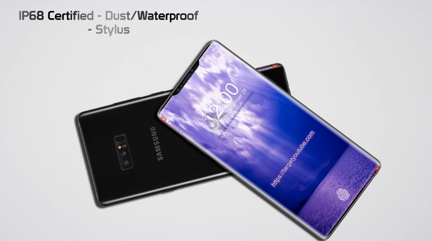 samsung galaxy note 9 gets first 2018 design with a notch. Black Bedroom Furniture Sets. Home Design Ideas
