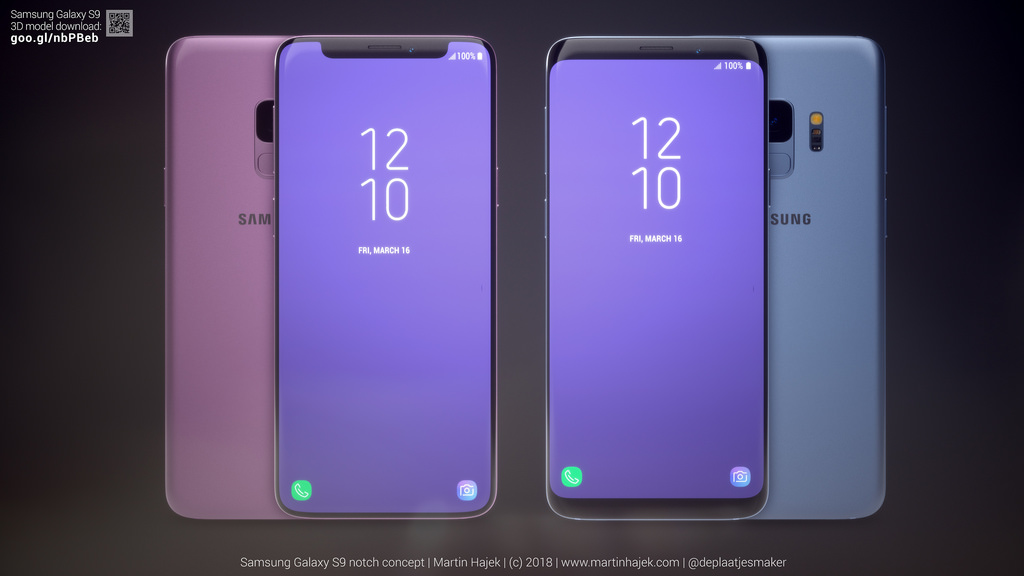 what if the samsung galaxy s9 had a notch concept phones. Black Bedroom Furniture Sets. Home Design Ideas