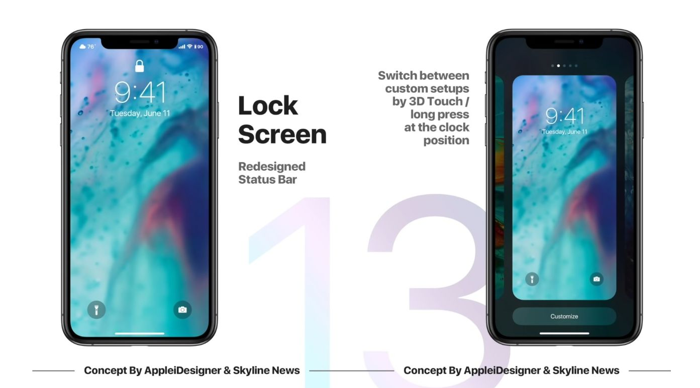 iOS 13 Concept Features Dark Mode, Picture in Picture on