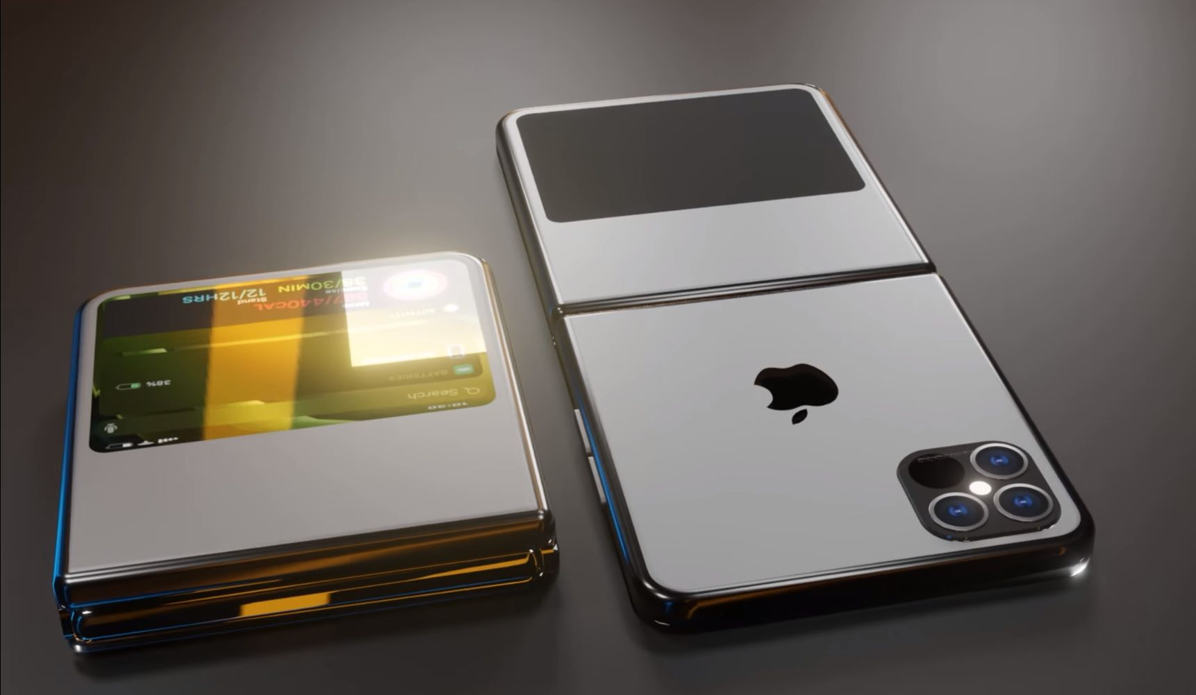 The Iphone Becomes A Flip Phone In This Iphone Flip Foldable Phone Concept Concept Phones